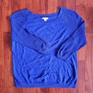 3/$25 Gap blue baseball mesh sleeve sweater